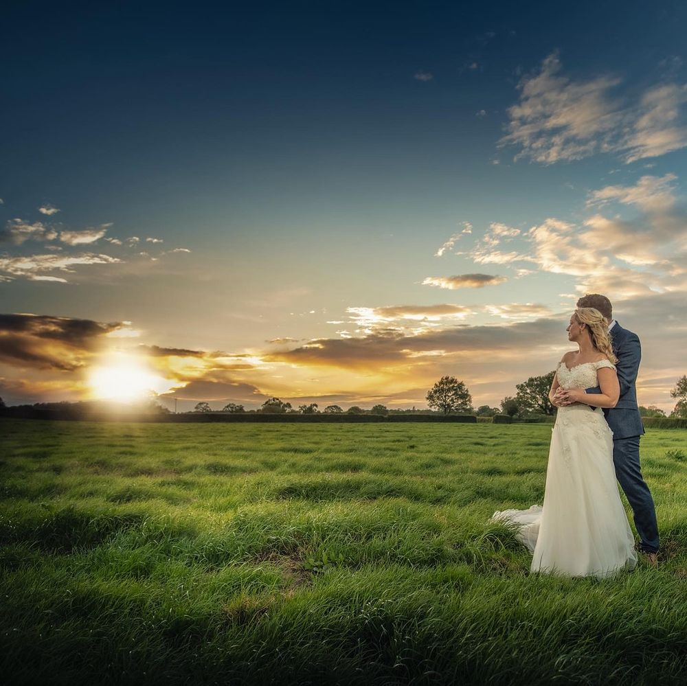 Stanford Farm Wedding Venue Sunset portrait