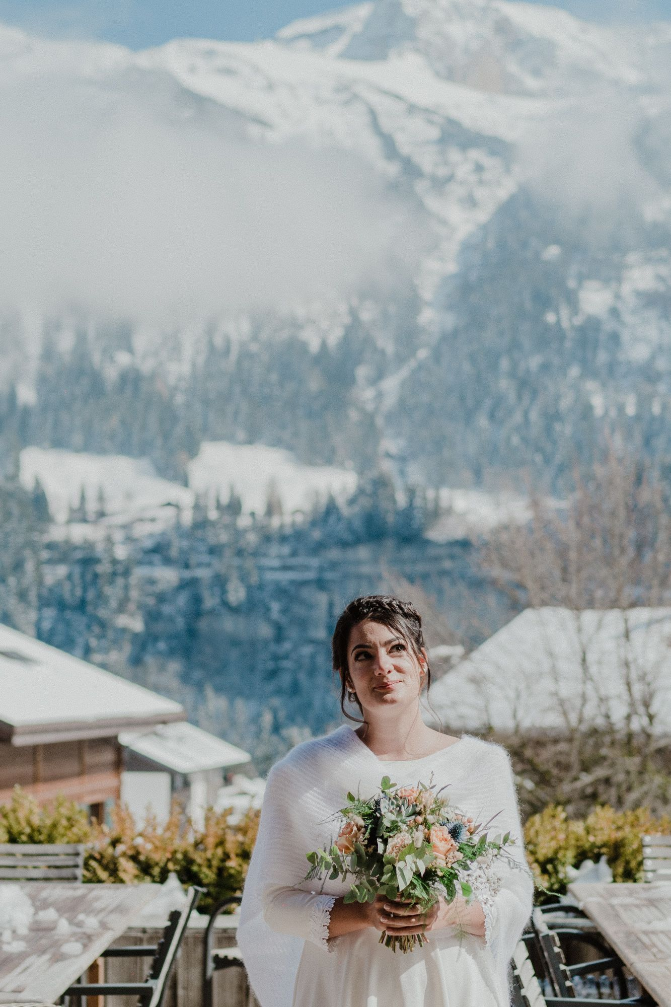 Champéry bride wedding photography