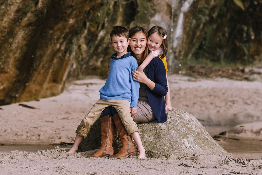 Family Photography Session Cathedral Cove
