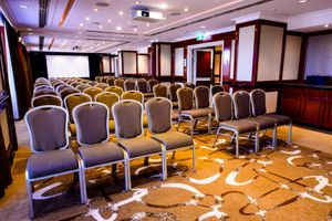 interior photo of the conference room at shangri la hotel