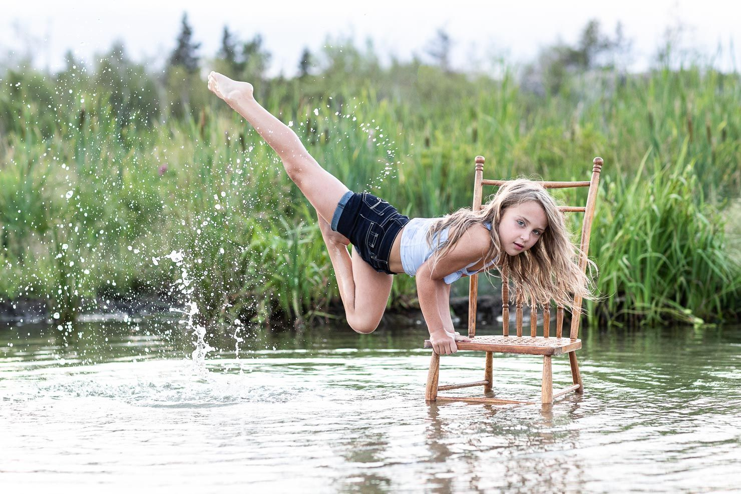 Dancing in the Water, Chair Dance, Dancer, Dance Pose, Dance by aKaiserPhoto, Dance Photographer