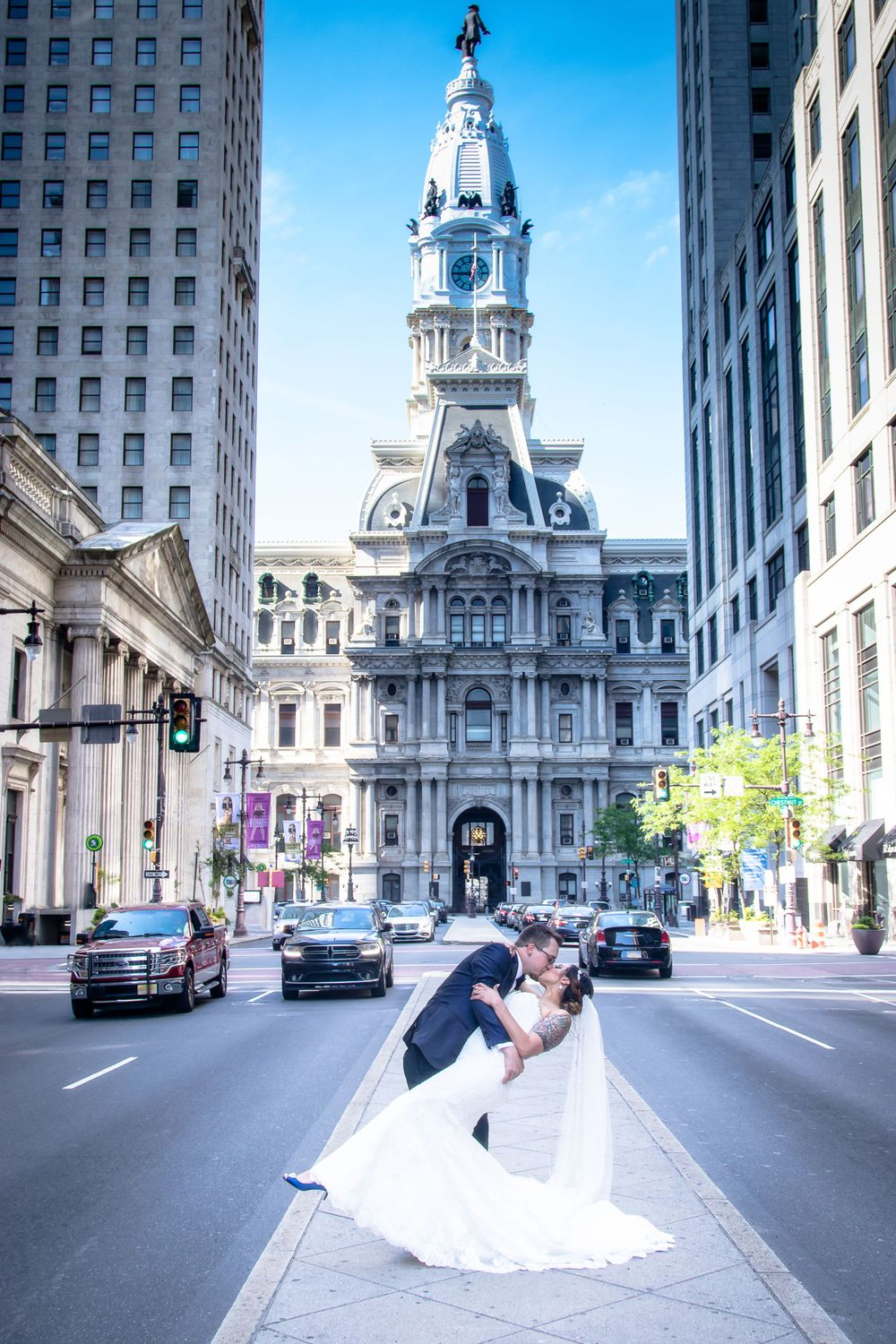 wedding photography, phila photography, jeremiad media, jere paolini, broad street, city hall, Philadelphia