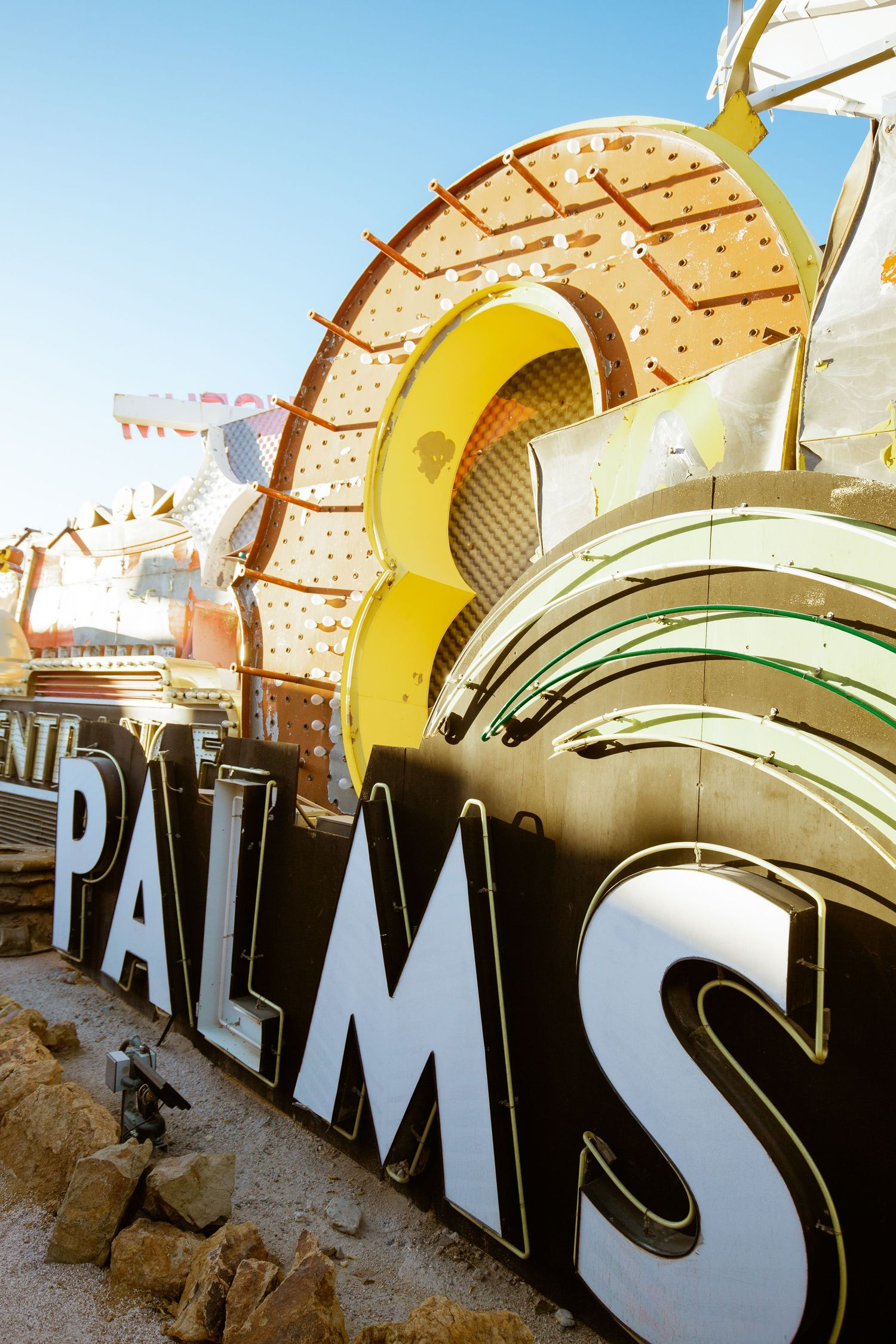 Neon Museum - Detailed shots - retired palms neon sign