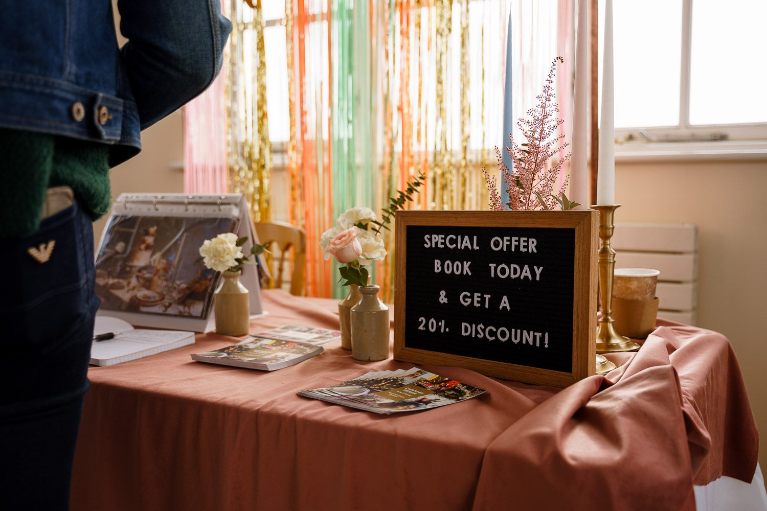 Special offers at wedding fairs can help you save the pennies.