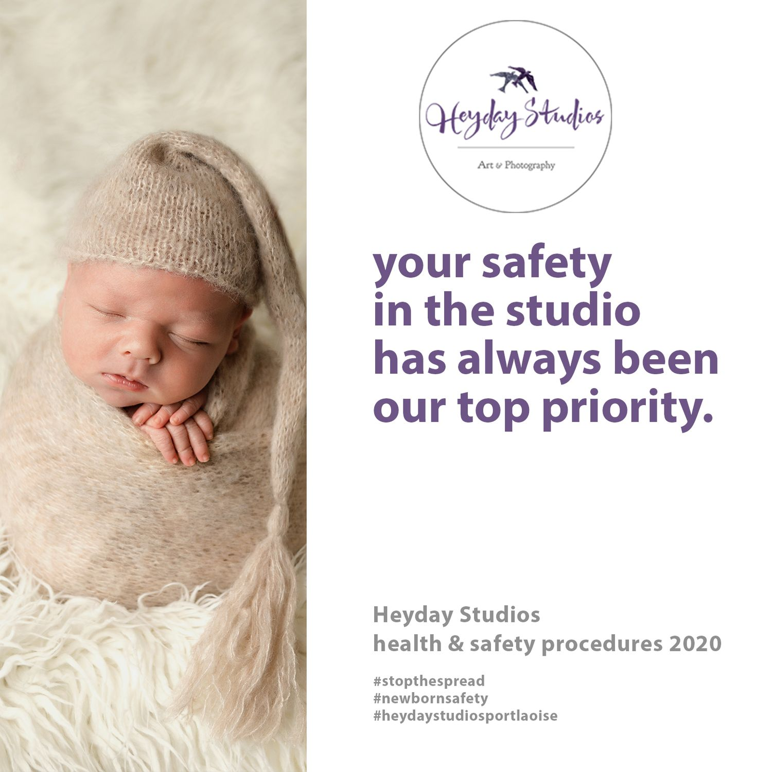 Heyday Studios Laois, Covid -19 Health & Safety Update