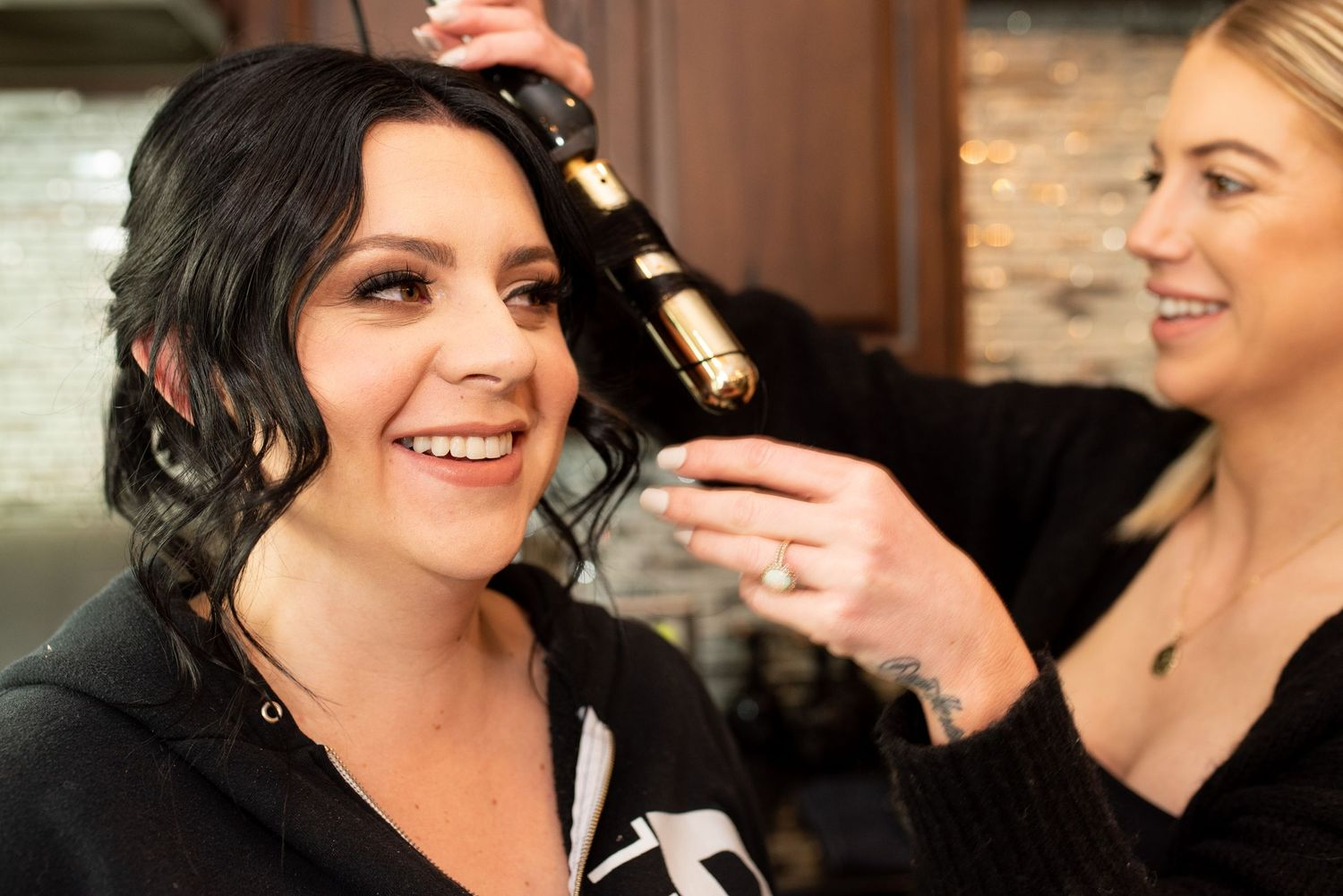 Tulare hairstylist Tanner Mathewson bridal hair for wedding by Miranda Munoz Photography