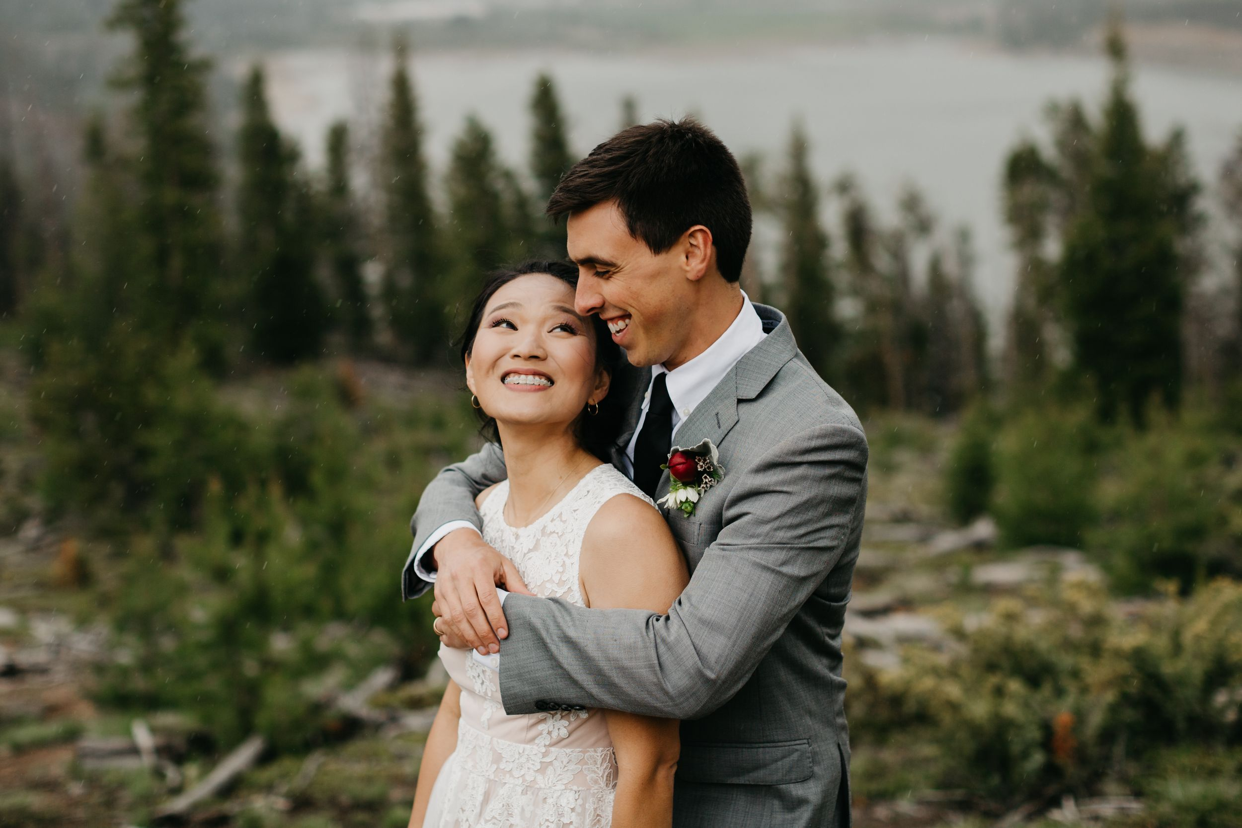 Rain and snow wedding Colorado Breckenridge Inspiration