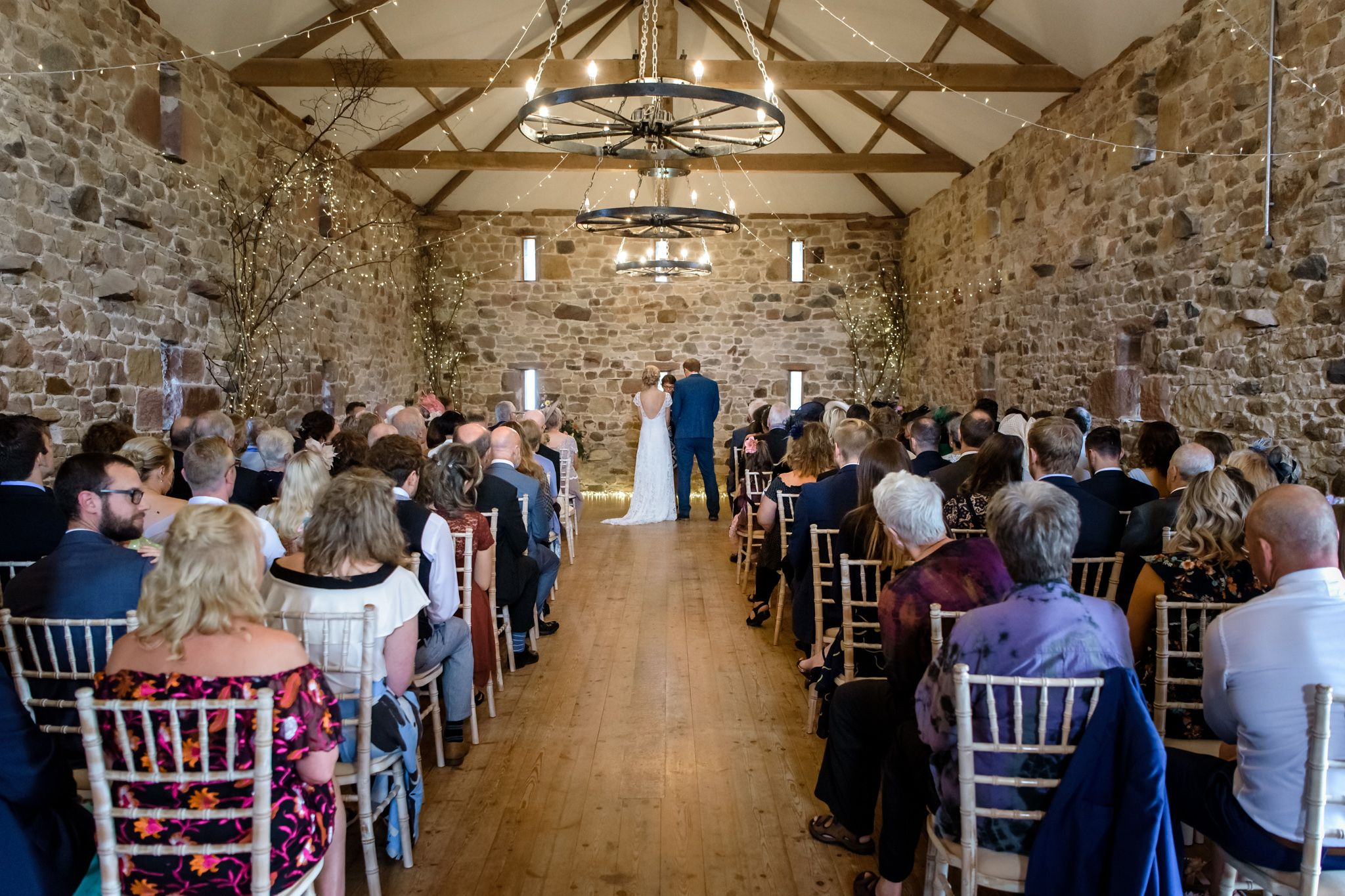 Ceremony at Three Hills Barn wedding venue