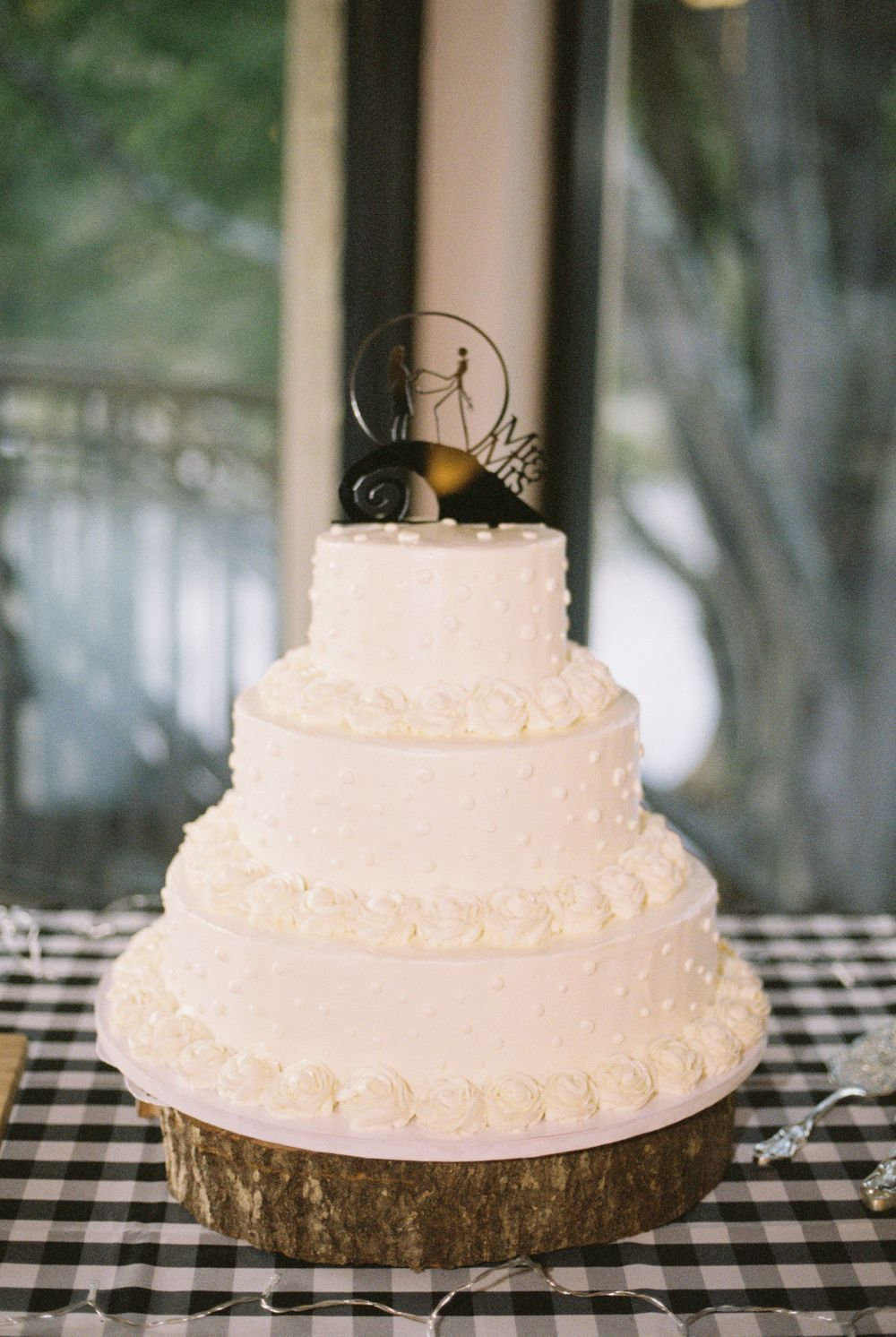 October Wedding Cake  Melissa and Chad Sandy Springs Wedding