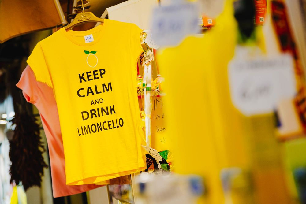 Limoncello T-shirt, Sorrento, Italy, travel photography