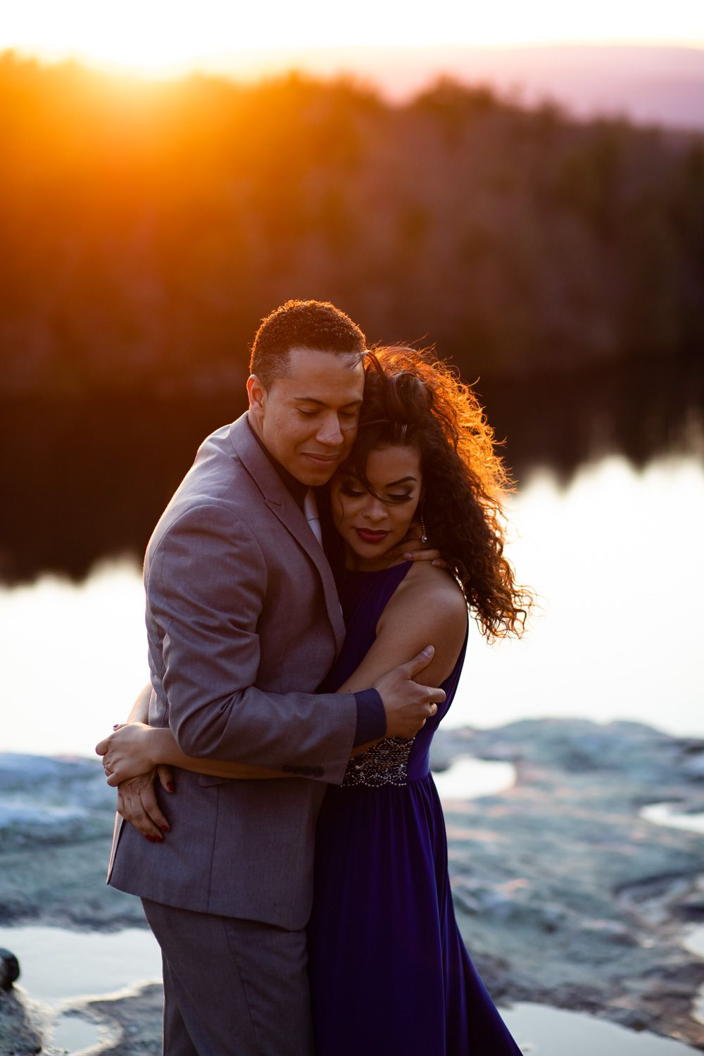 Minnewaska State Park engagement photography at sunset