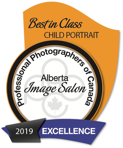 Award for Best in Class for Child Portrait in Alberta for 2019 won by Ammara Crittenden of Fox & Gem Photography