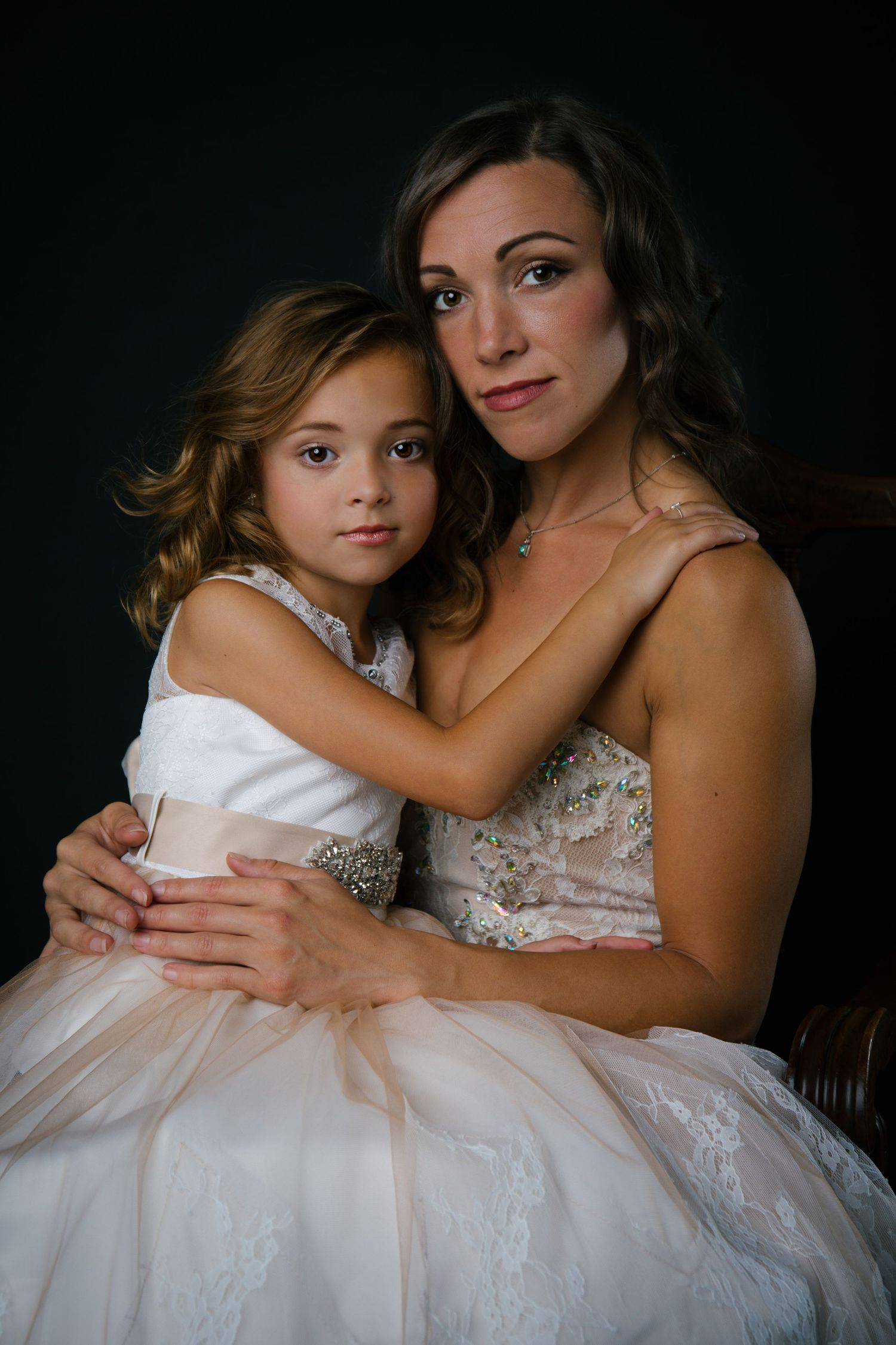 Mother Daughter Portrait, Glamour Portrait, Fine Art Portrait