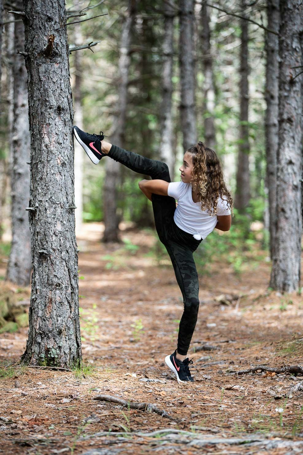 Leg Grab, Forest Dancing, Dancer, Dance Pose, Dance by aKaiserPhoto, Dance Photographer