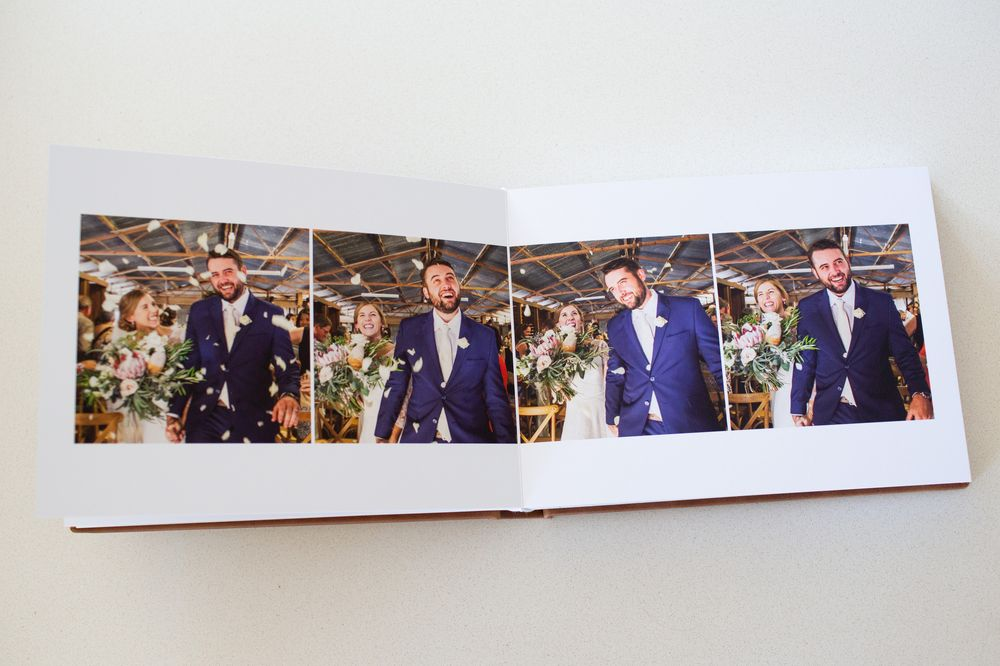 Bride and groom in Wedding Album
