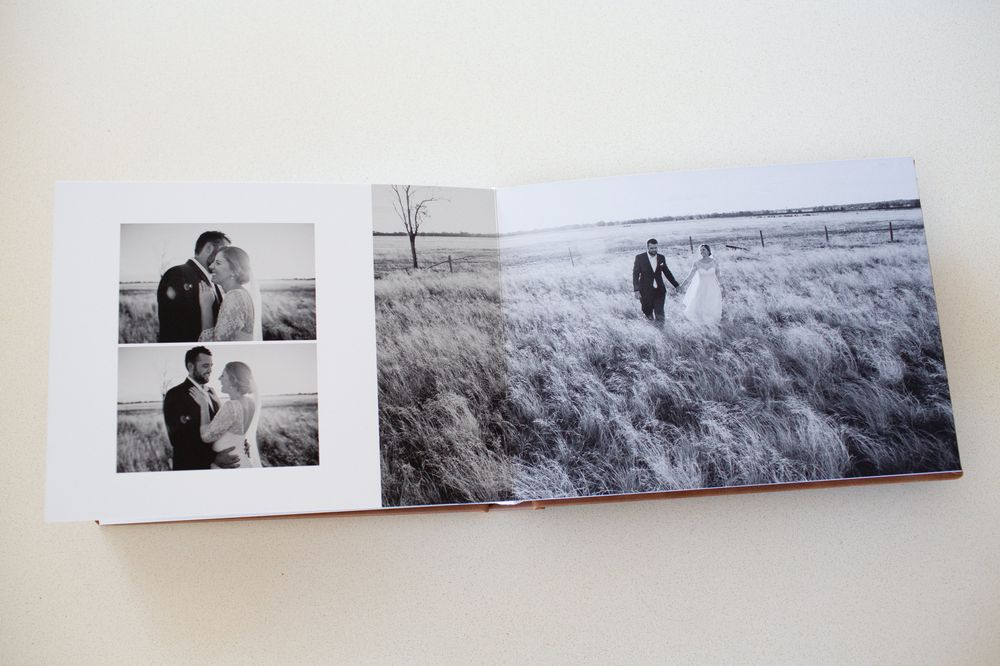 Fine Art Wedding Album pages