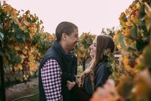 Beautiful Couple Engagement Photos Sonoma County Vineyards