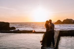 Beautiful Couple Engagement Photos Sutro Baths