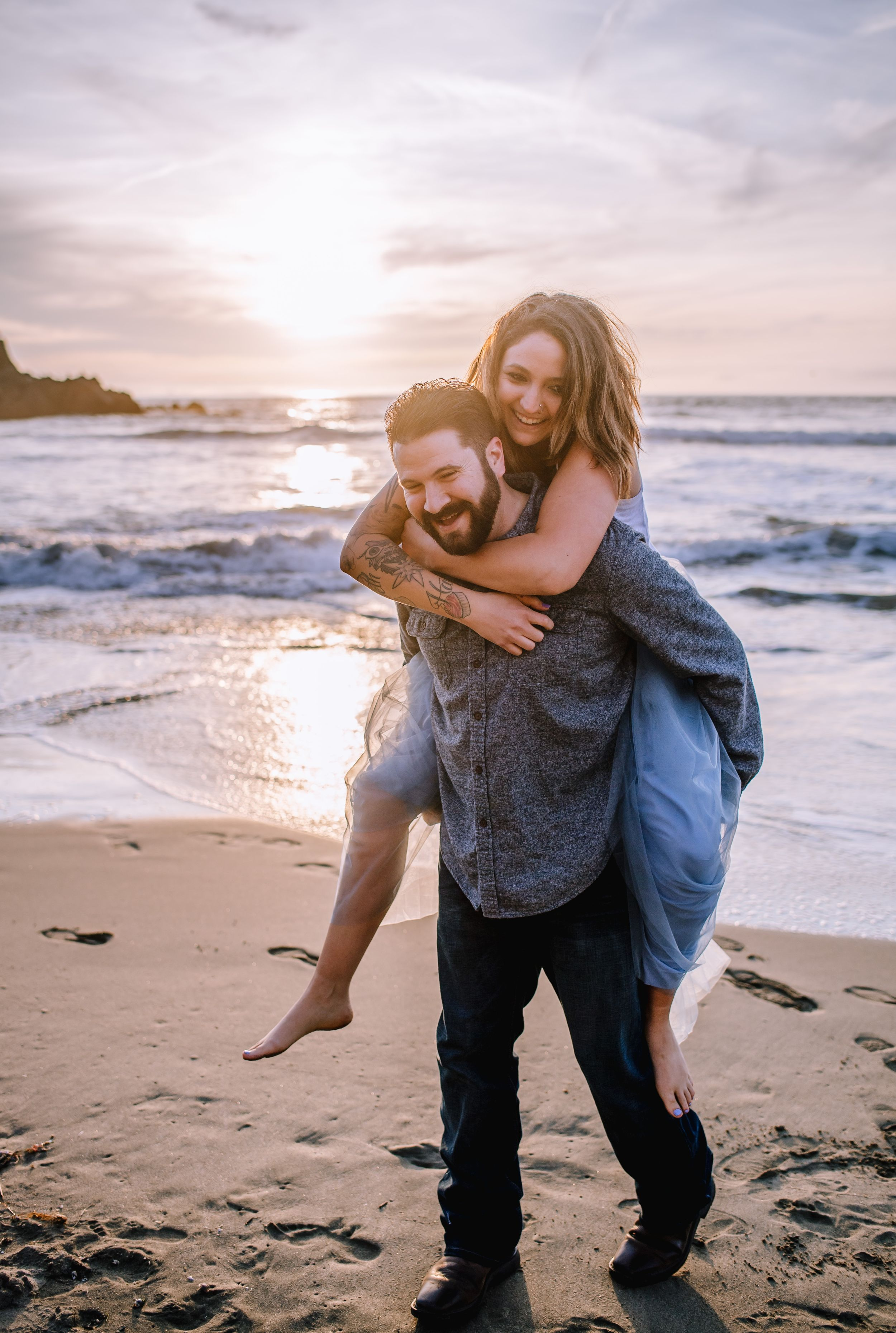 Beautiful Couple Engagement Photos Beach