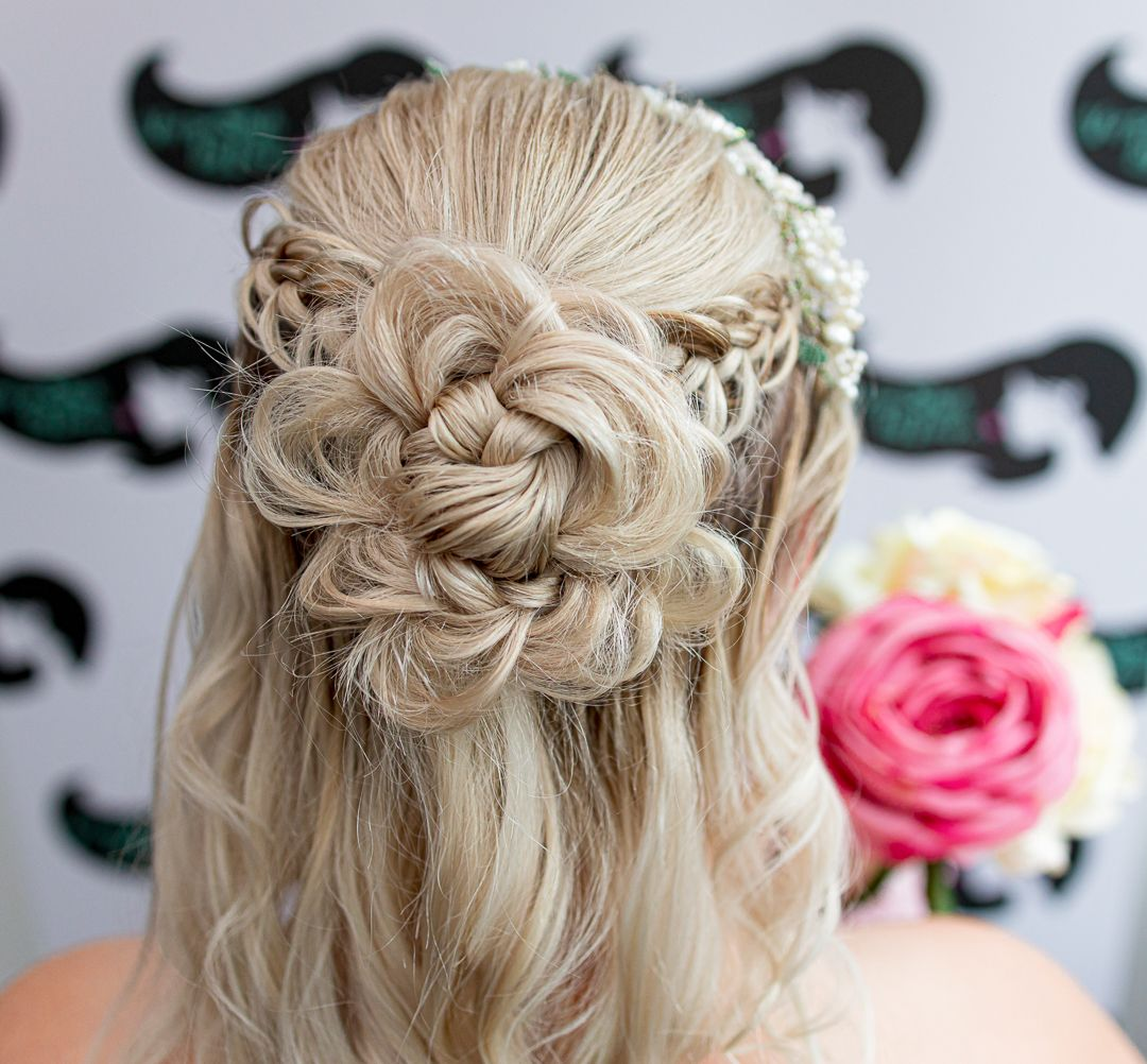 A different view of bridal hair