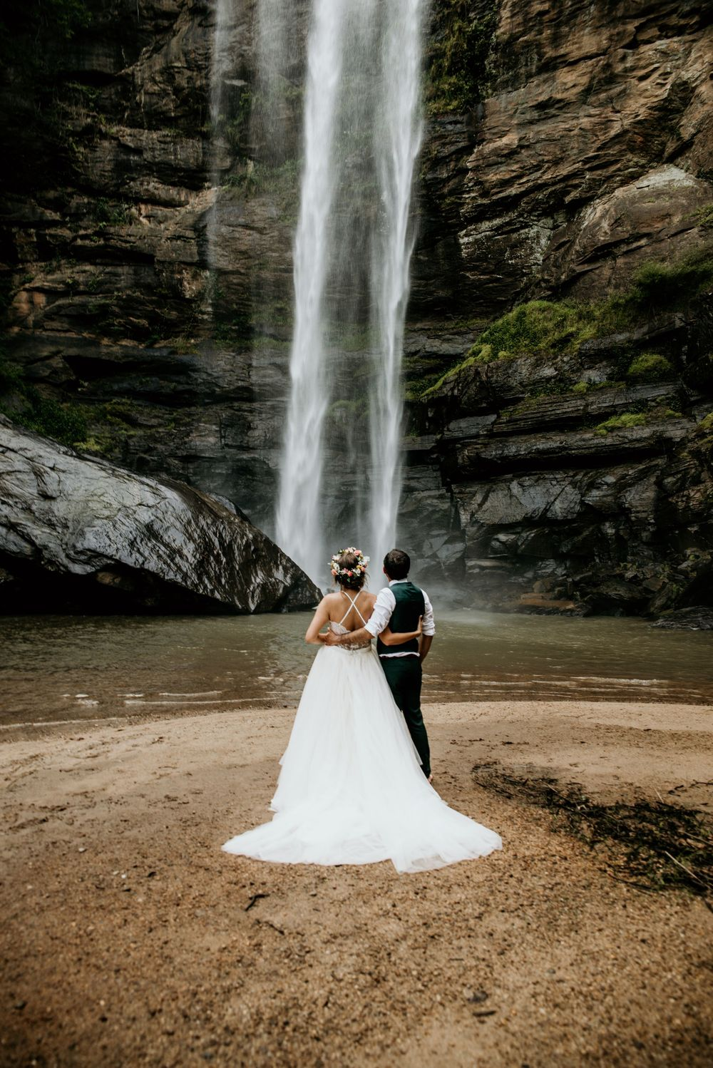 Adventure Waterfall Elopement Georgia Photographer