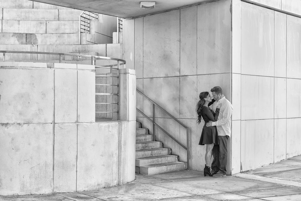 Dramatic Florida Photographer Downtown Engagement Session