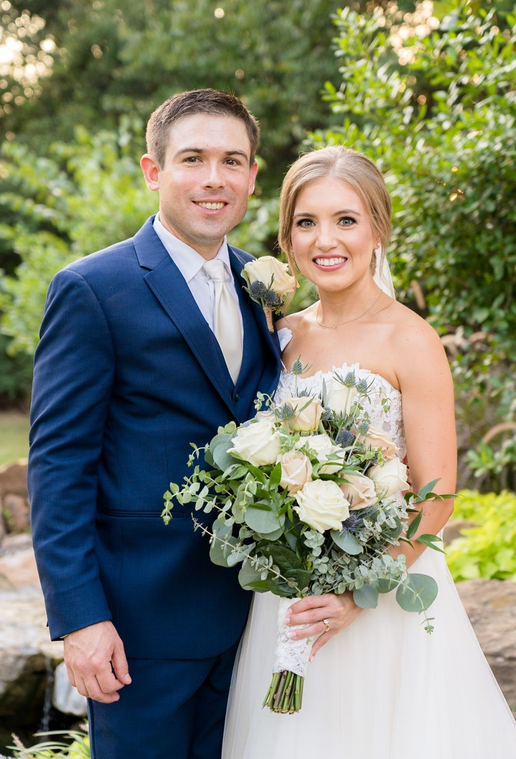 bride and groom photo outdoor at the springs events wedding venue