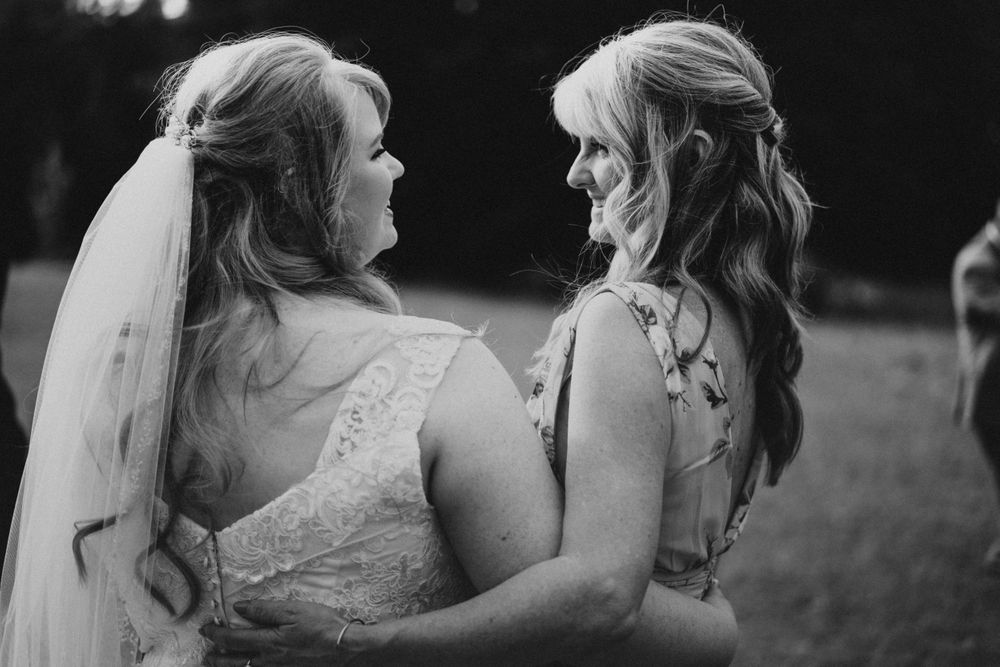 Photo by Kelsie Burke Photography of the bride and her mom