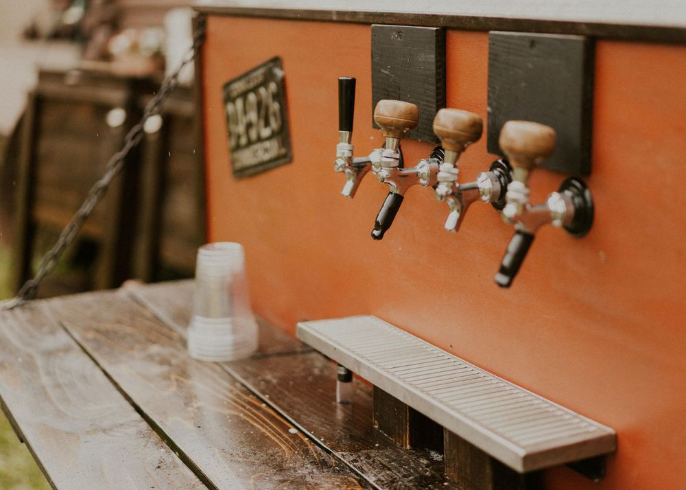 Photo by Kelsie Burke Photography of the beer stand