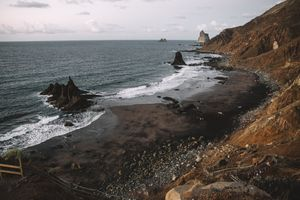 Dark beach in Tenerife