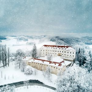 Negova castle in Winter