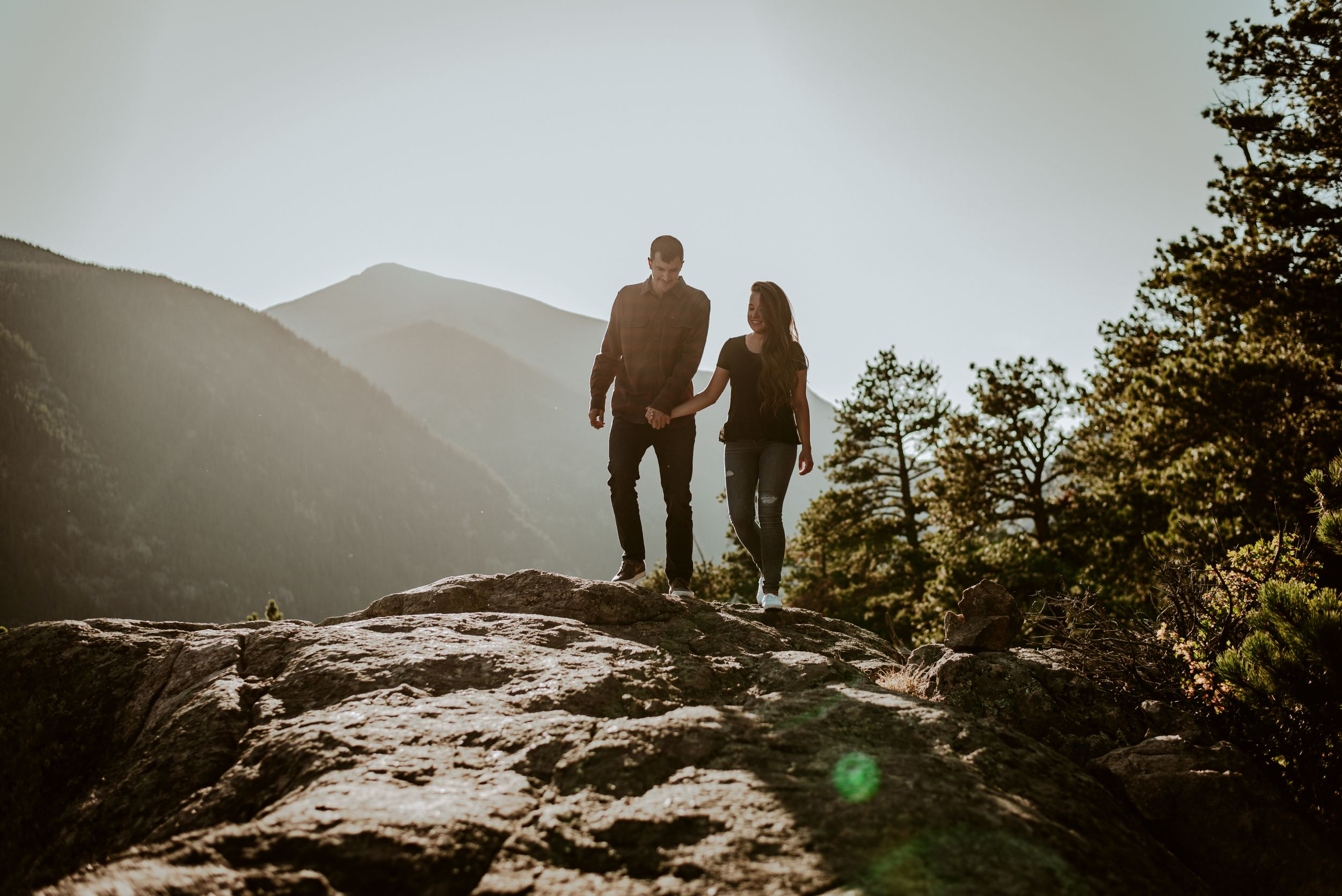 estes park adventure engagement photographer, rocky mountain national park engagement photographer