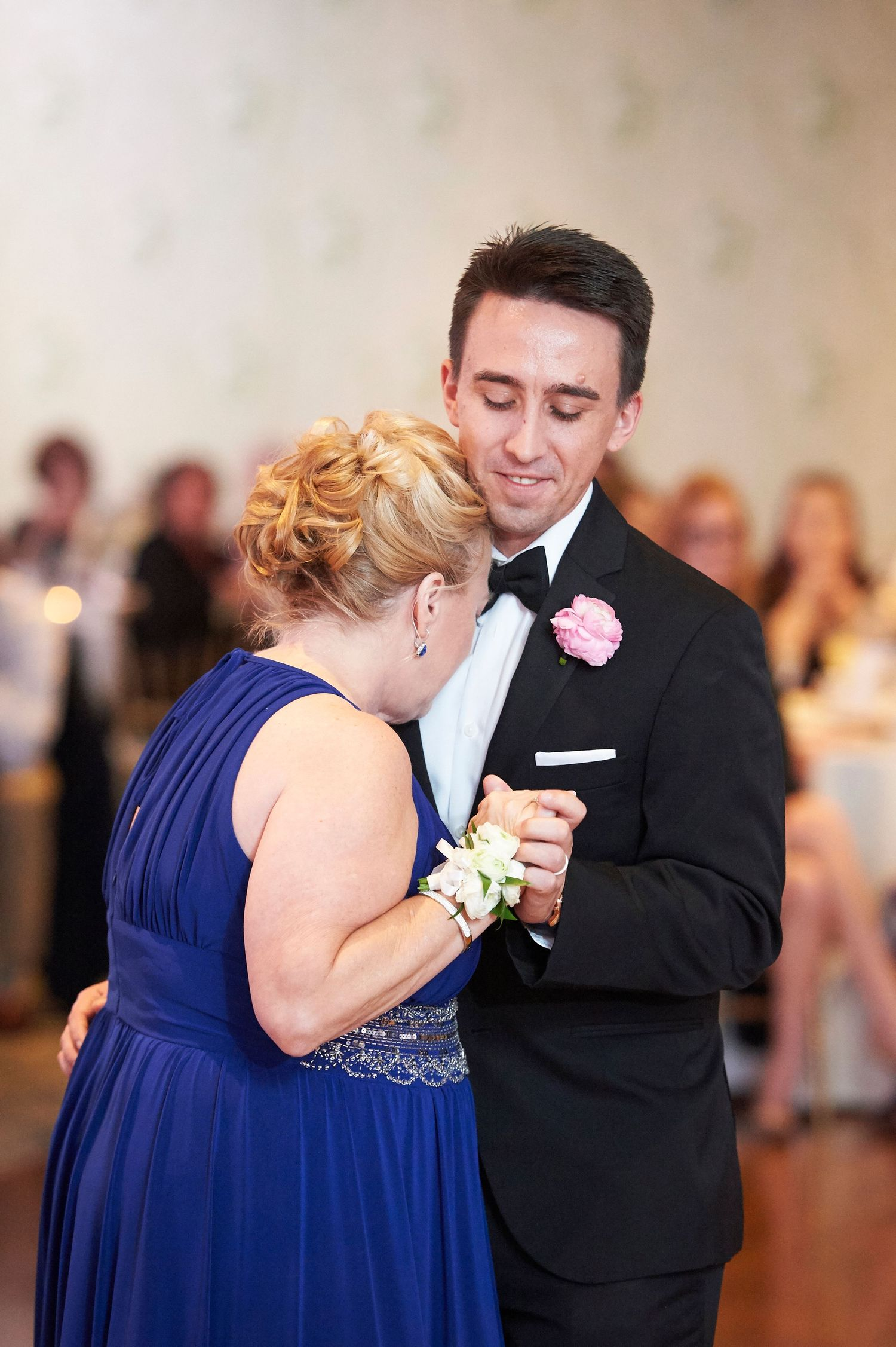 mother son dance during reception at Bucks hotel wedding photo