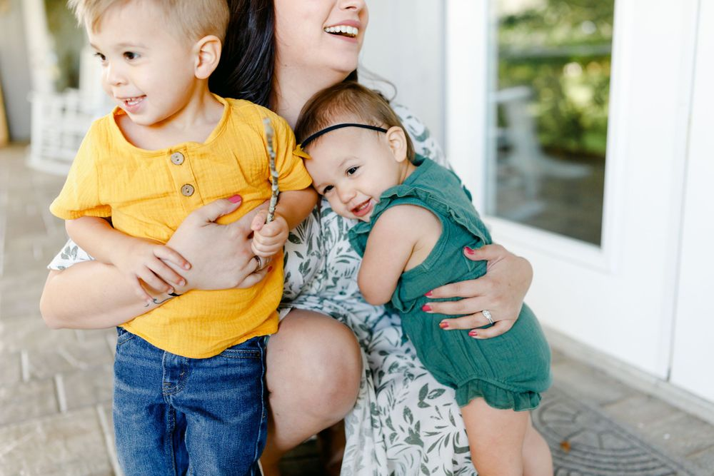 mother with children portraits space coast films