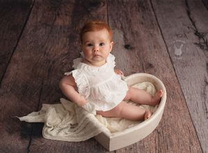 Little Brown Rabbit Photography - Baby photographer in Perth - red head baby girl