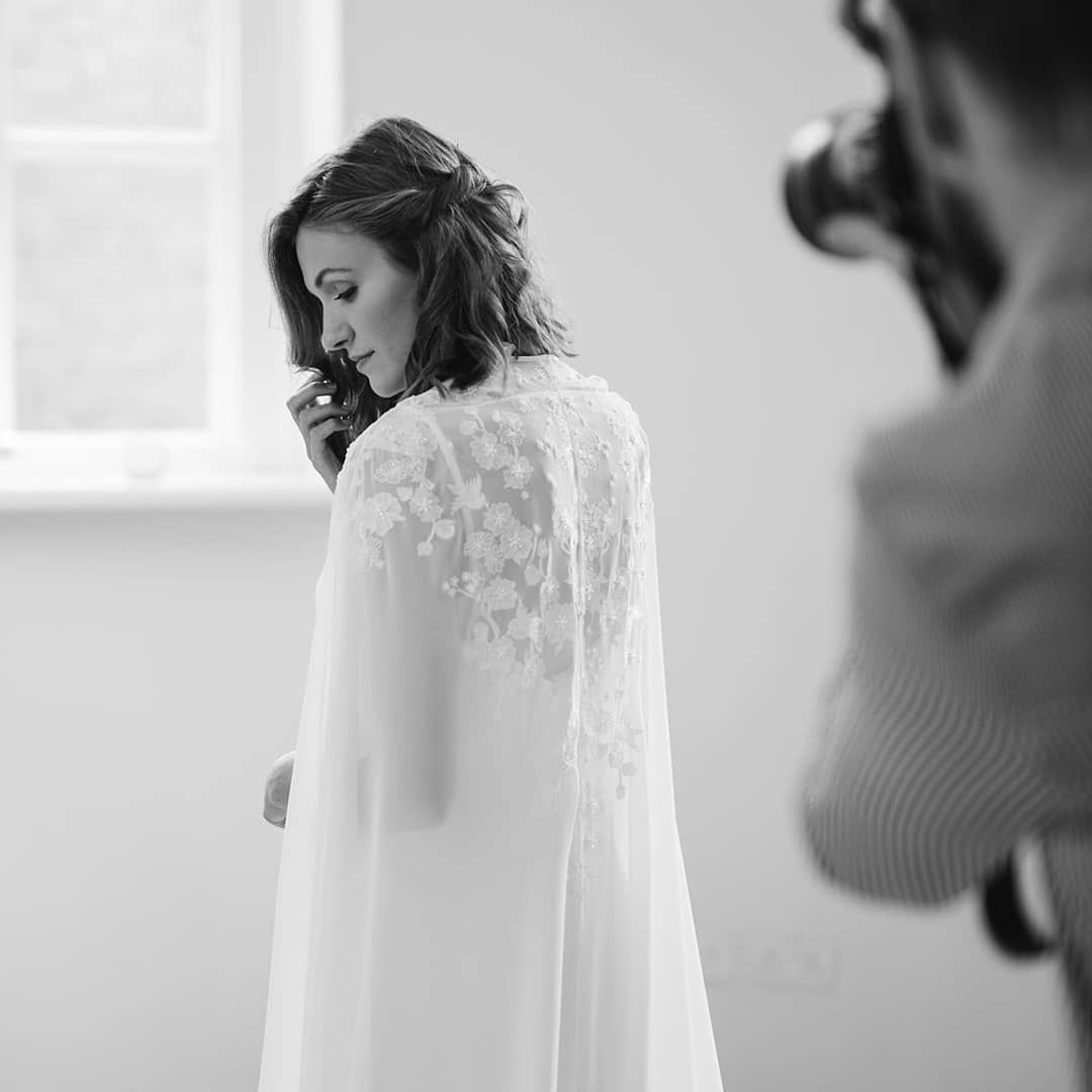 James Noble photographs model at Iscoyd Park Wedding Shoot
