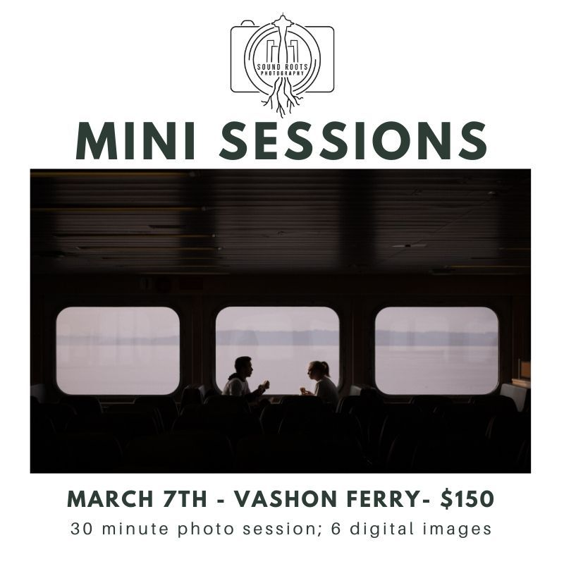 Vashon Island Ferry Mini Sessions Spring West Seattle Family Photos