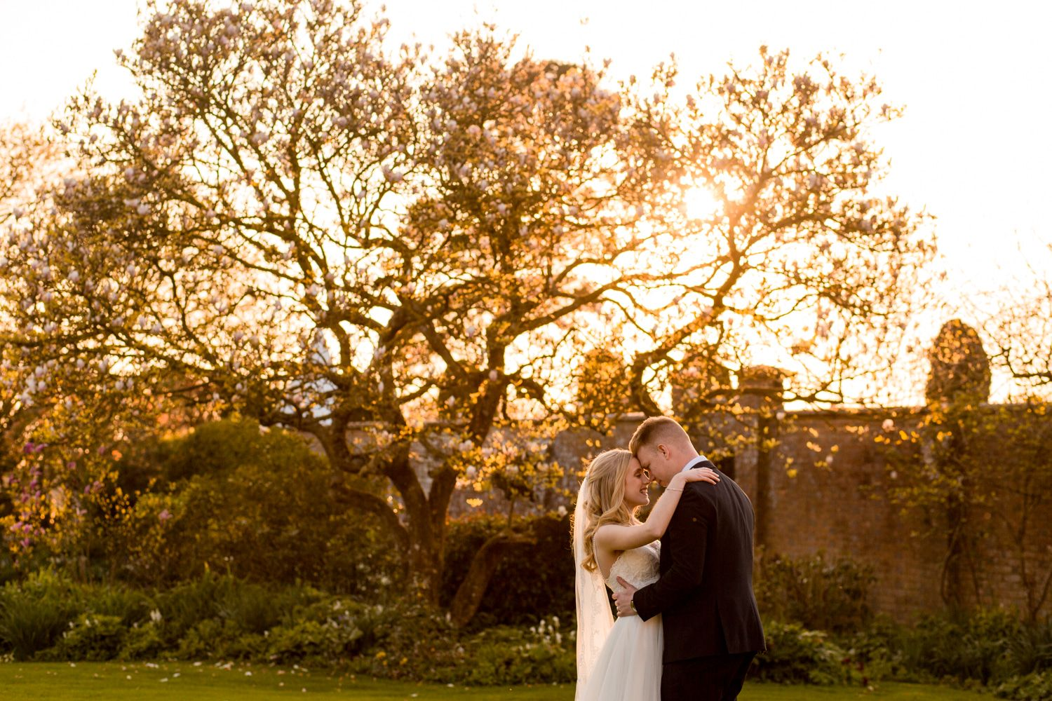 Golden Hour at Parley Manor, Dorset Wedding Photographer