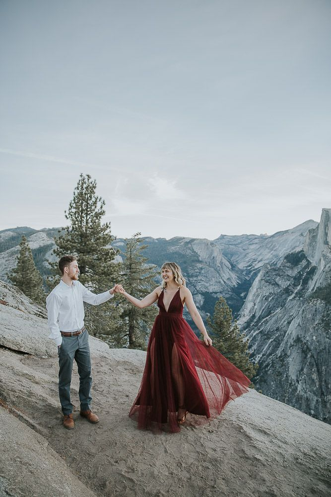 couple dancing in yosemite