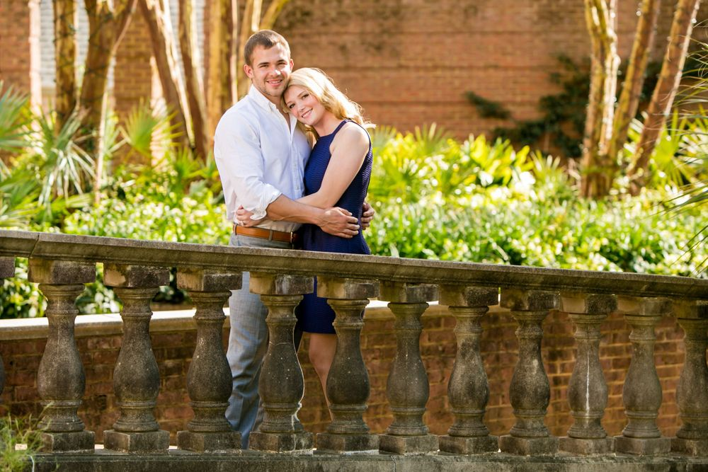 An engagement portrait at the Riverbanks Botanical Gardens in Columbia, SC