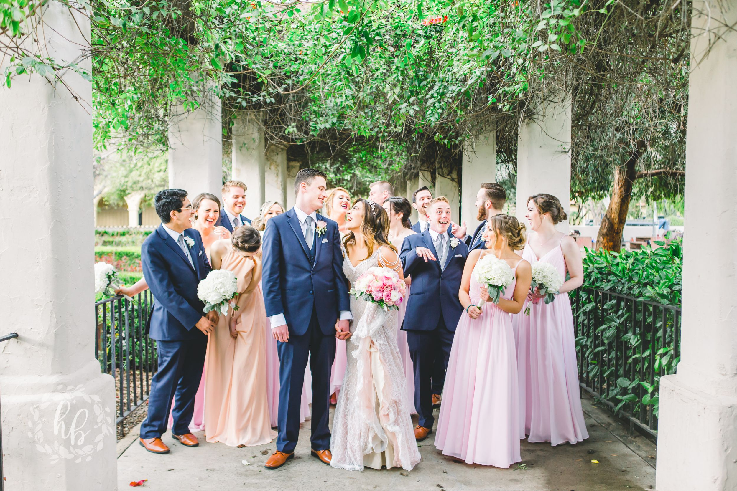 Los Angeles blush church wedding photos wedding photographer
