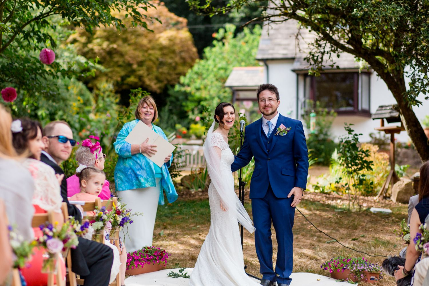 Garden Wedding ceremony New Forest