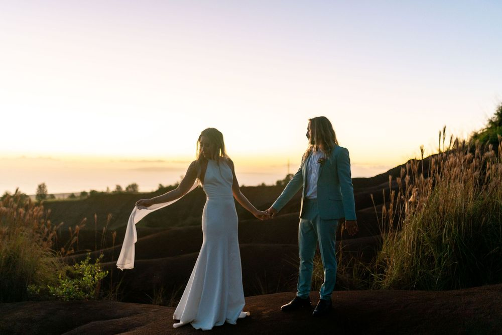 kauai hawaii elopement destination wedding photographer oahu maui beach bride groom
