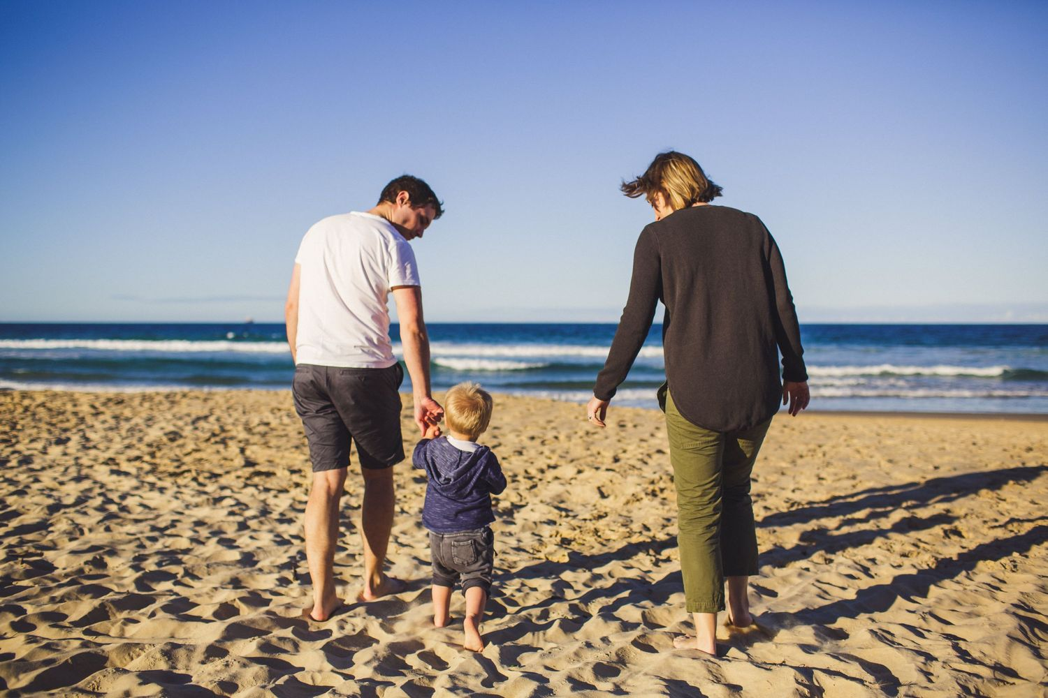 Natural family photography on the beach