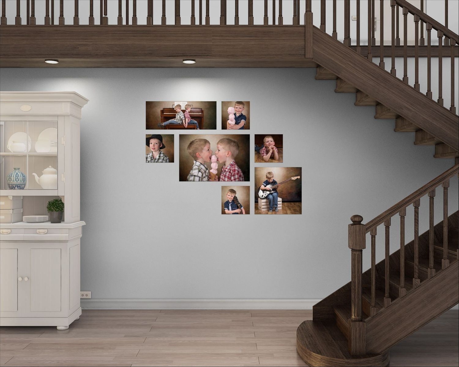 large wall collection of kids Jackie Phairow Photography