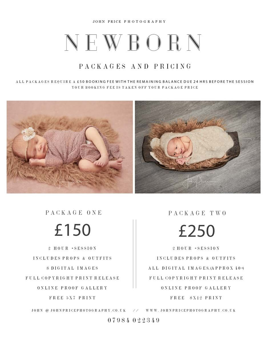 newborn baby photographer prices