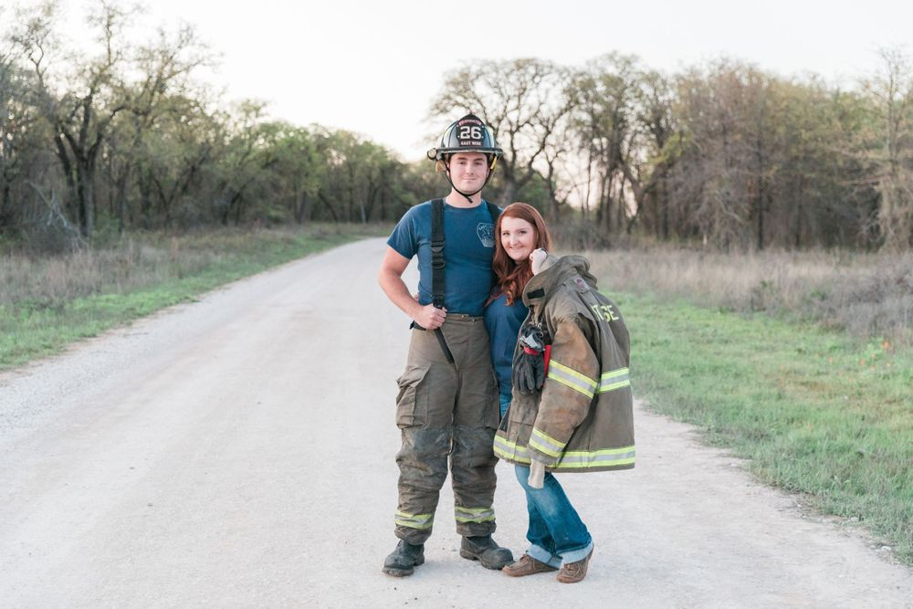 Texas-FireFighter-Engagement-Decatur-Black-Creek-Lake