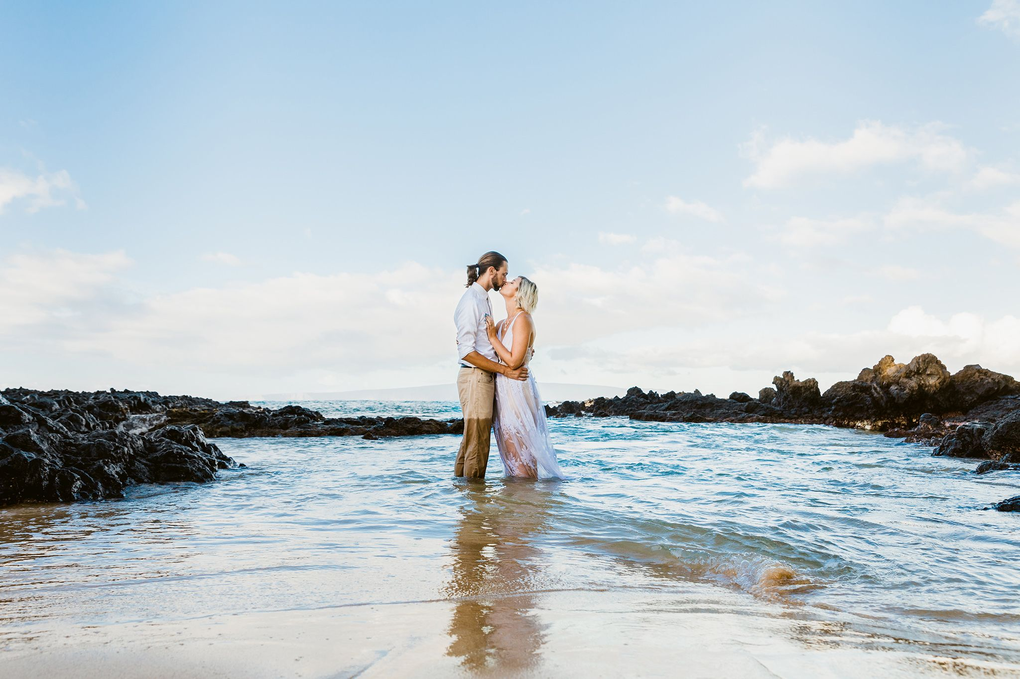 romantic water photoshoots maui
