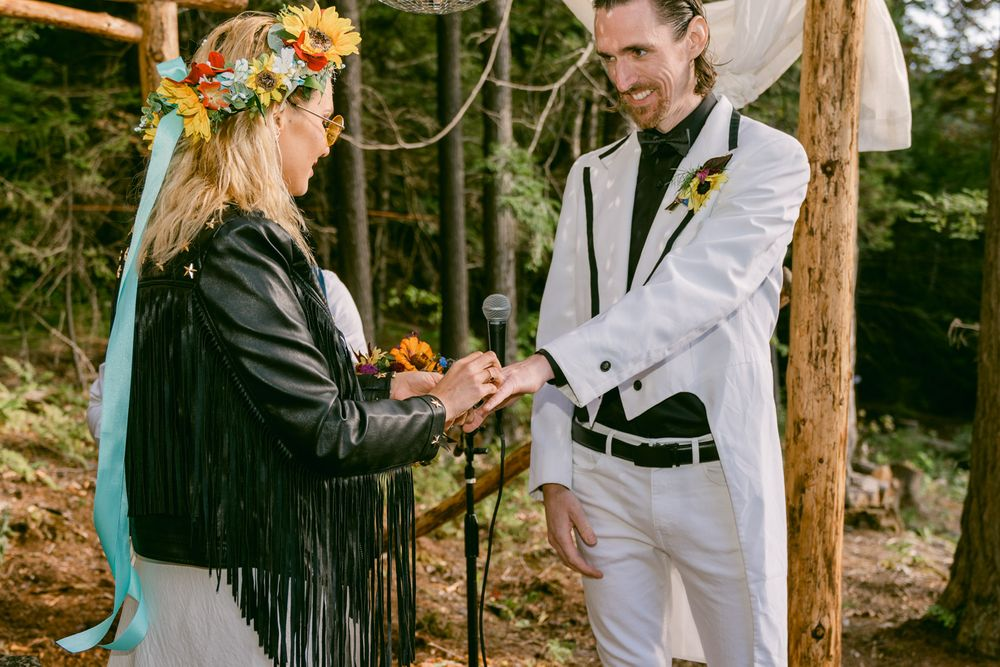 Wedding Ceremony Outdoors in Vermont