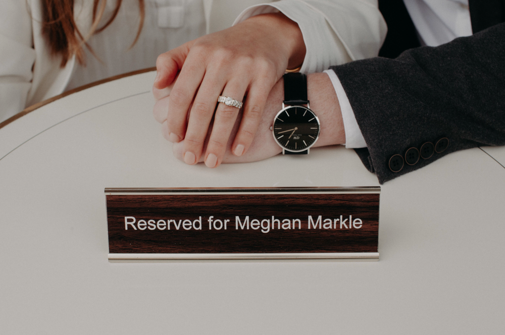Reserved for Meghan Markle sign